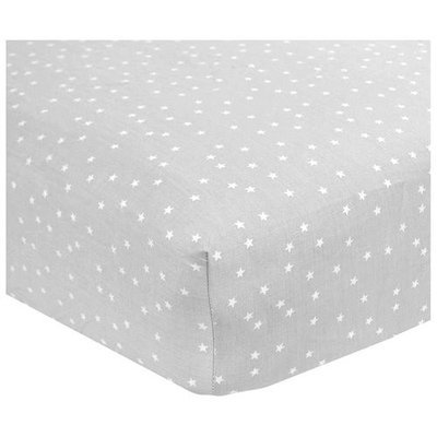 Carter's Sateen Grey Star Crib Sheet