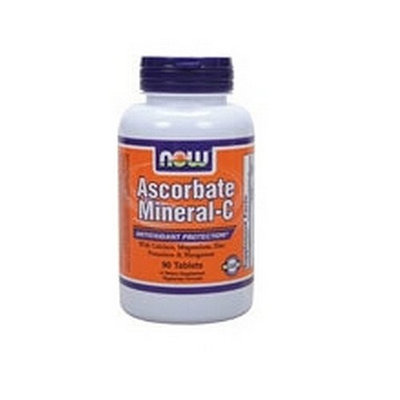 NOW Foods Ascorbate Mineral-c, 90 Tablets