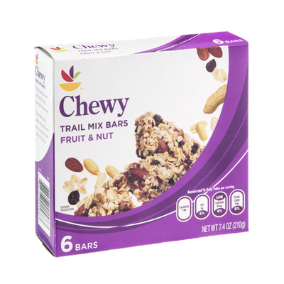 Ahold Trail Mix Bars Chewy Fruit & Nut - 6 CT