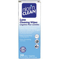 Nice'n Clean Nice N Clean Non-Scratching/Non-Streaking/Anti-Fog Lens Cleaning Wipes, 30 ct
