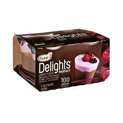Yoplait Delights Parfait Chocolate Raspberry Flavored Lowfat Yogurt