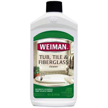 Weiman Fiberglass Cleaner for Bathrooms, 16-Ounce Bottle