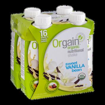 Orgain Organic Nutritional Shake Sweet Vanilla Bean - 4 CT