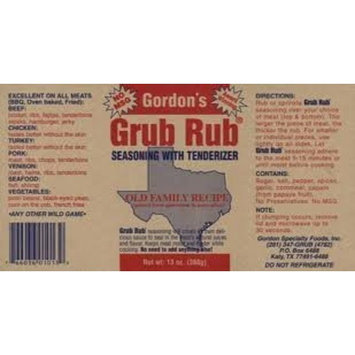 Gordon's Seasoning Grub Rub, 13-Ounce (Pack of 3)