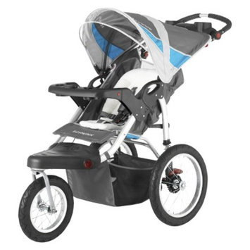 Schwinn Turismo Swivel Jogger Single - Gray with Blue