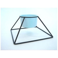 YML Single Iron Stand with Plastic Feeder Bowls
