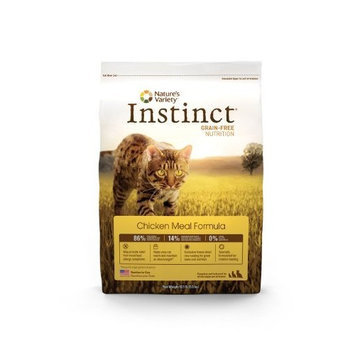 Nature's Variety Instinct Grain-Free Dry Cat Food, Chicken Meal Formula, 12.1-Pound Package