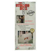 The Solar Group The Strong Box Standard Mailbox White