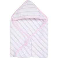 Miracle Industries MiracleWare Pink & Grey Stripes Muslin Hooded Towel