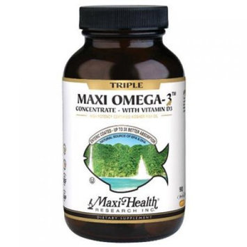 Maxi Health Kosher Vitamins Max Health Triple Omega3 with Vitamin D3 90 Caps