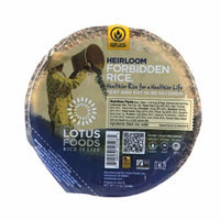 Lotus Foods Heat & Serve Rice Bowls Heirloom Forbidden, 7.4 oz