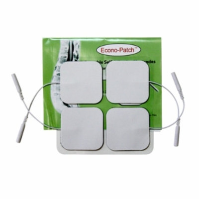 Promed Specialties Pack of 4 Econo-Patch Electrodes in White Foam (Set of 10)