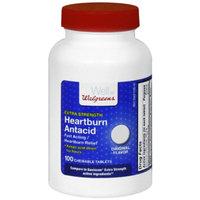 Walgreens Extra Strength Heartburn Antacid Chewable Tablets