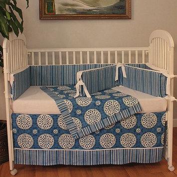 Hoohobbers Medallion 4-piece Crib Bedding Set - Blue