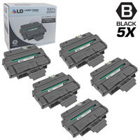 LD Compatible Replacements for Xerox 106R01374 Set of 5 High Yield Black Laser Toner Cartridges for use in Xerox Phaser 3250, 3250D, and 3250DN Printers