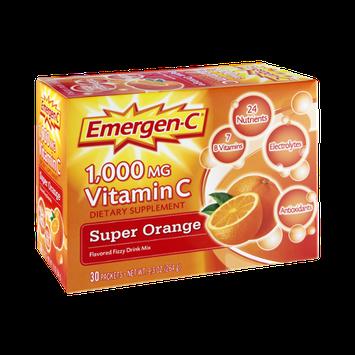 Emergen-C Vitamin C 1000 mg, Super Orange