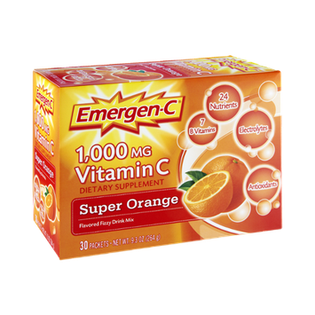 Emergen-C Vitamin C 1000 mg, Super Orange
