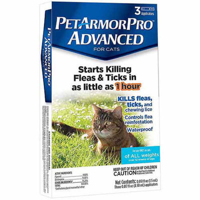 PetArmor Pro Advanced Flea & Tick Squeeze-On For Cats, 3 ea