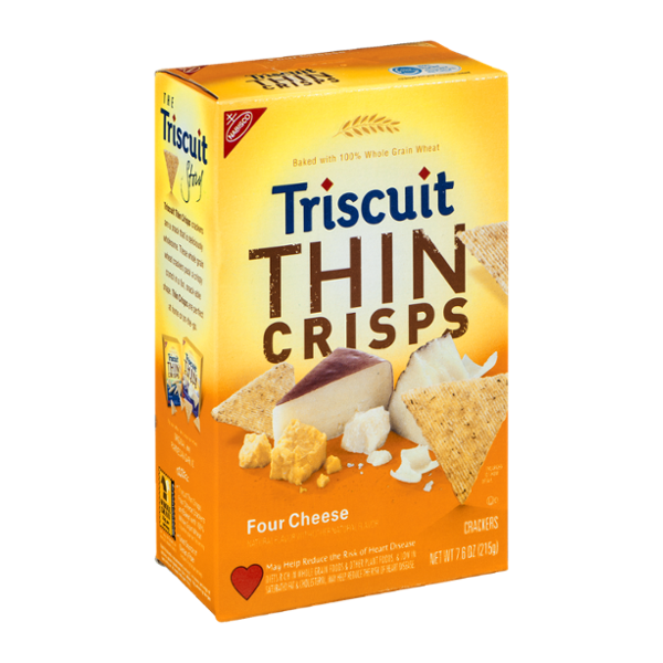 Nabisco Triscuit Thin Crisps Crackers Four Cheese
