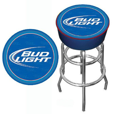 Trademark Global Bud Light Bar Stool