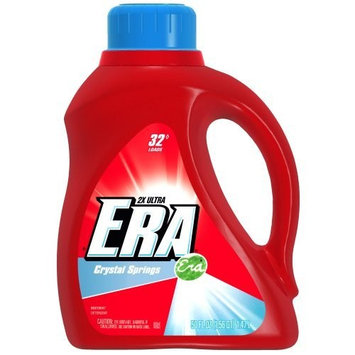Era 2x Ultra Crystal Springs Liquid Detergent 32 Loads 50 Fl Oz (Pack of 2)