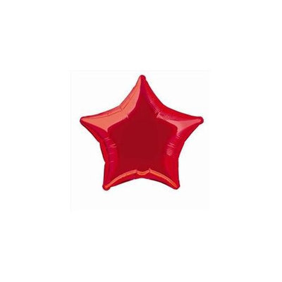 Unique Industries 52893 20 inch Star Foil Balloon in Red Pack of 12