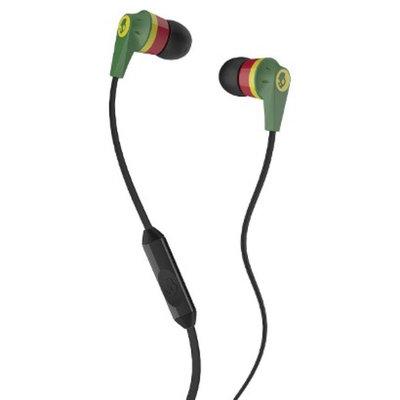 Skullcandy Ink'd 2.0 Mic'd Headphones with Mic - Rasta (S2IKDY-102)