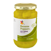 Ahold Banana Peppers Hot Rings