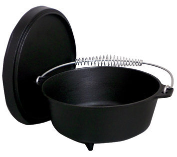 King Kooker Seasoned Cast Iron Dutch Oven with Feet