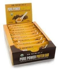 Dr. Mercola Pure Power Organic Protein Bar Vegan Peanut Butter & Chocolate Chips 12 Bars