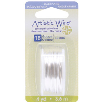 Artistic Wire Dispenser 4 Yards/Pk-Silver 18 Gauge