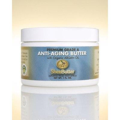 Natural Anti-Aging Butter Unrefined Certified Grade A Shea Butter and Organic Unrefined Argan Oil Blend 1 oz. By AAA Shea Butter