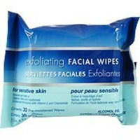 Gi Exfoliating Facial Premoistened Wipes for Sensitive Skin, Hypoallergenic Fragrance-free, 30