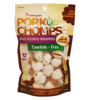 Pork Chomps Mini Knot Bone Dog Treat