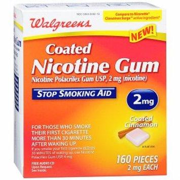 Walgreens Coated Nicotine Gum Cinnamon 2 mg
