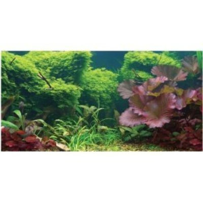 Sporn /yuppie Puppy Pet Prod Aquatic Creations Static Cling Aquarium Background, 24 by 12-Inch, Tropical