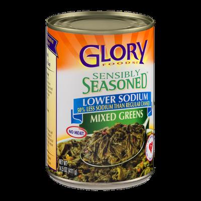 Glory Foods Sensibly Seasoned Mixed Greens Lower Sodium