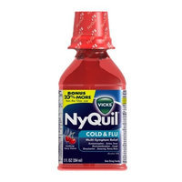 Vicks NyQuil Cold & Flu Relief Liquid Soothing, Cherry Flavor, 12-Fluid Ounce Bottles (Pack of 2)