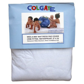 Colgate Wee-A-Way Waterproof Fitted Crib Mattress Cover - White