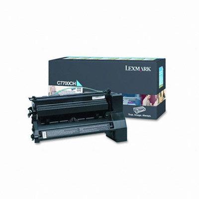 Lexmark C7700CH Cyan High-Yield Return Program Toner Cartridge