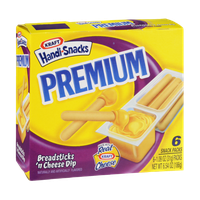 Kraft Handi Snacks Premium Breadsticks 'n Cheese Dip Snack Packs - 6 CT