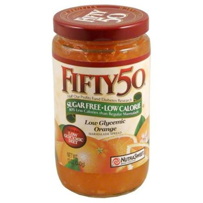 Fifty 50 Low Glycemic Orange Marmalade Spread, 12 oz, - Pack of 6