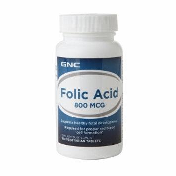 GNC Folic Acid 800mcg, Vegetarian Tablets, 100 ea