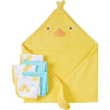 Child Of Mine by Carter's Newborn Baby Boy or Girl Unisex Towel And Washcloth 6-Piece Set