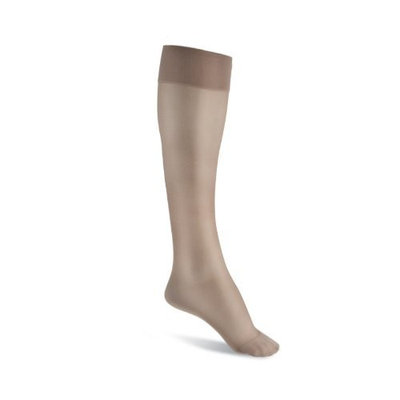 Sigvaris Women's Sheer Fashion 15-20 mmHg Closed Toe Knee High Sock Size: B (7.5-9.5), Color: Natural 33