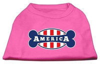Ahi Bonely in America Screen Print Shirt Bright Pink Lg (14)