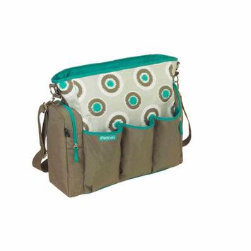 iPack Baby iKat Dot Diaper Bag, Turquoise
