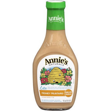 Annie's Naturals Honey Mustard Vinaigrette Lite, 16 FL OZ (Pack of 6)