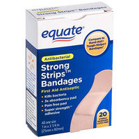 Equate Strong Strips Bandages, 20 count