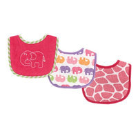 Baby Vision Luvable Friends 3 Pack Safari Drooler Bibs - Blue